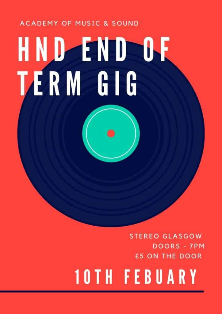 HND End of Term Gig (Glasgow)